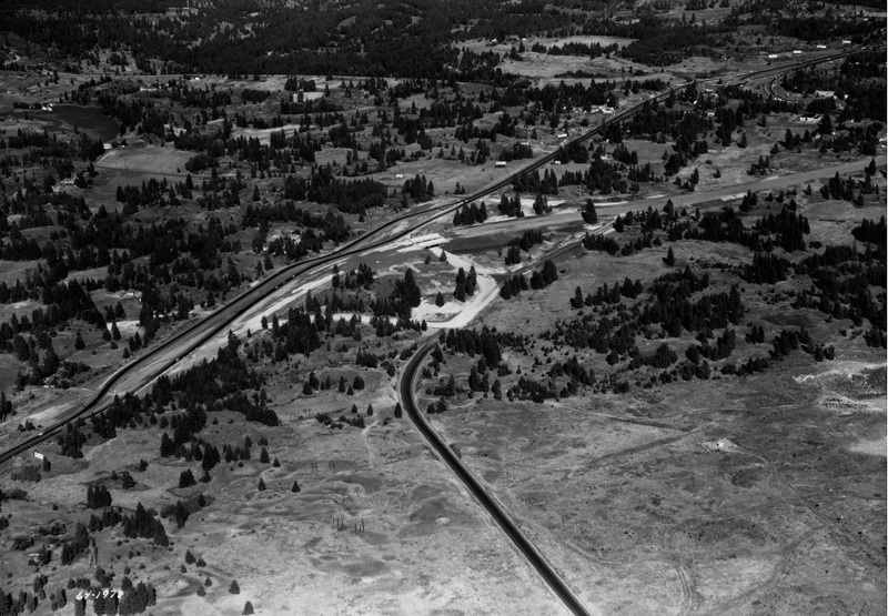I-90 under construction just east of the East Central area, 1964 (image L87-1.1978-64 courtesy of the Northwest Museum of Arts and Culture)