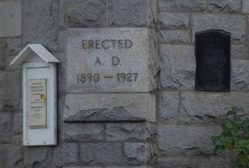 """""""Erected A.D. 1890 - 1927"""""""