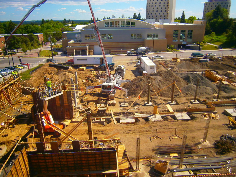 Construction on the new hall