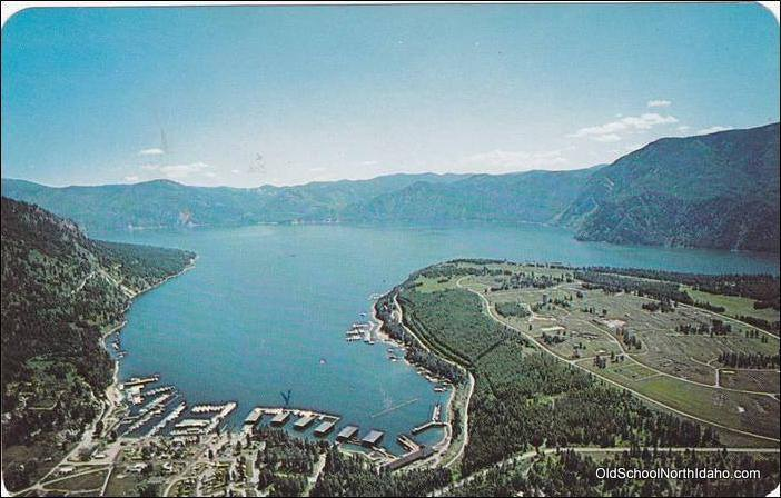 The south end of Lake Pend Oreille and Scenic Bay.