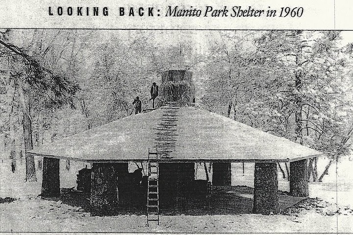 Manito Park Shelter in 1960