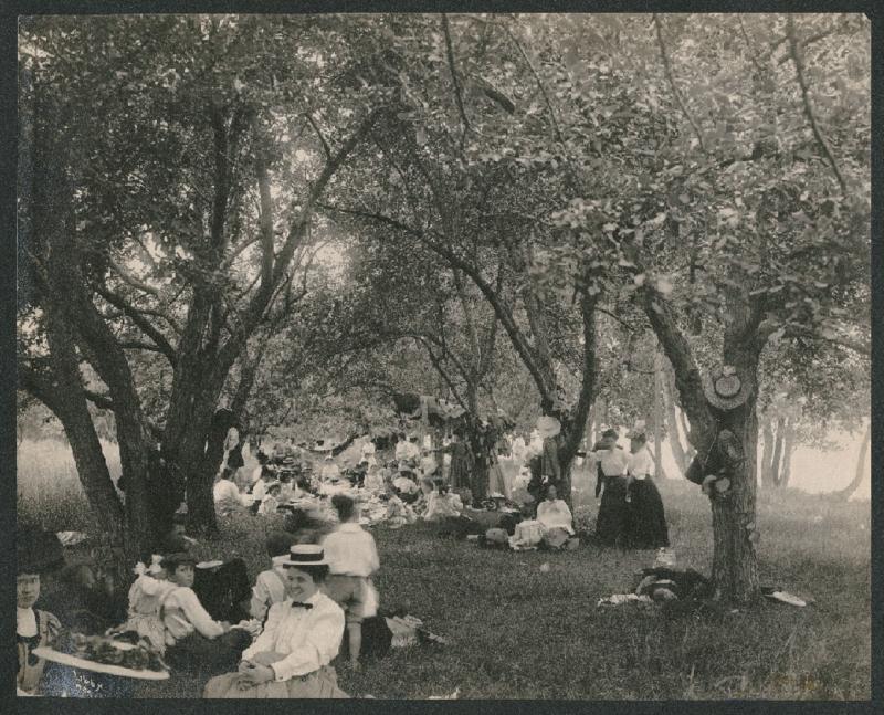 Picnicking at Liberty Lake, c. 1910
