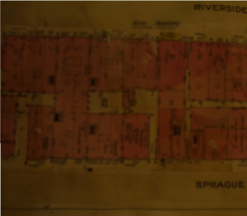 Sanborn map showing the Mearow Block