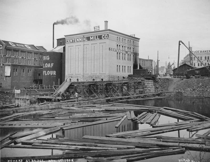 Howard Street Bridge Construction, 1908