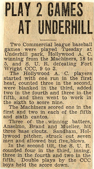1935 Newspaper Clipping