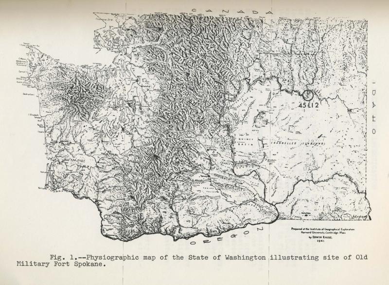 Physiographic Map of Washington