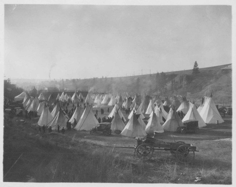 Tipis at Northwest Indian Congress, 1925