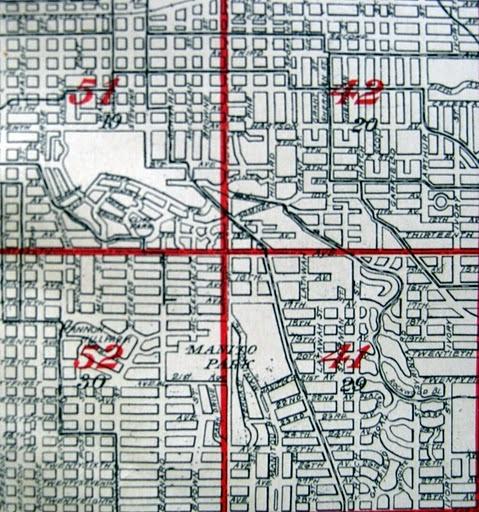 Map of Manito Park circa 1912