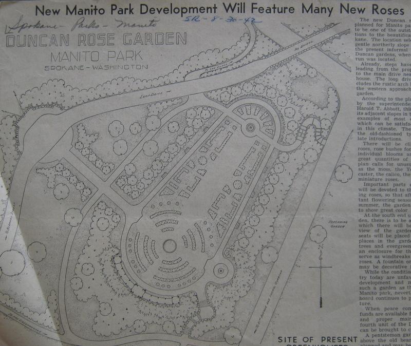 John W. Duncan Plans for Rose Garden