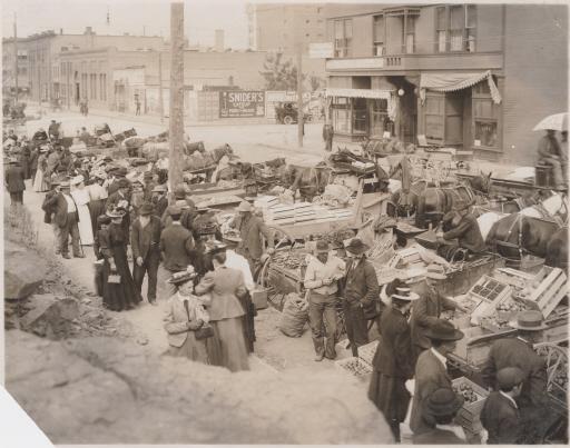 Spokane Farmer's Market, 1908