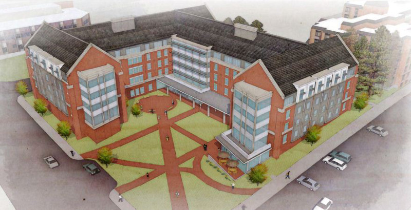 Residence Hall concept sketch