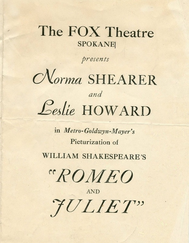 Romeo and Juliet Playbill