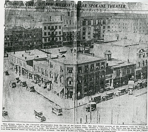 The block before the building of the Fox