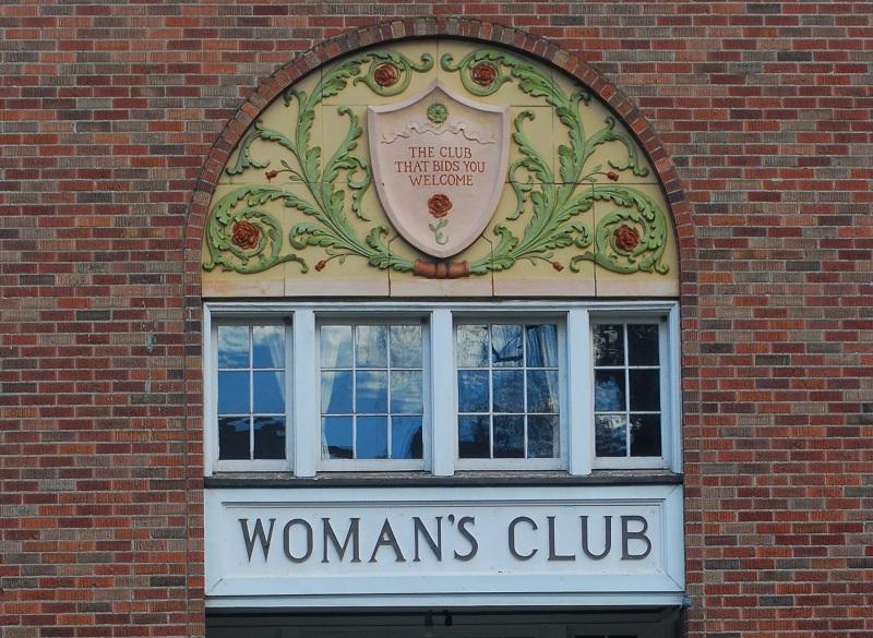 Woman's Club Rosette Detail