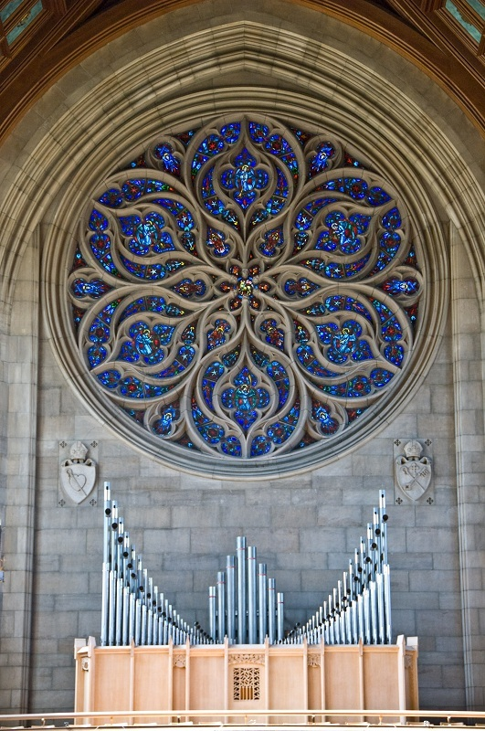 Pipe Organ and Floral Pattern