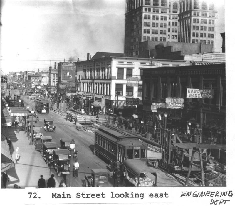 Main Street Looking East in 1920