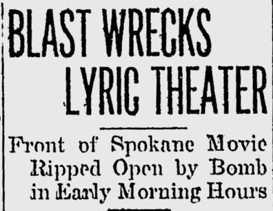 Newspaper clipping from Spokane Daily Chronicle.