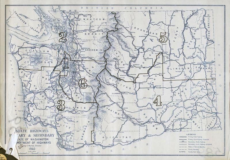 State highways primary and secondary, 1940, Washington (State). Dept. of Highways, General Map Collection, 1851-2005, Washington State Archives, Digital Archives, http://digitalarchives.wa.gov, April 18, 2013.