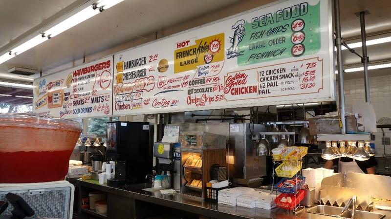 Dick's Hamburgers Menu Board