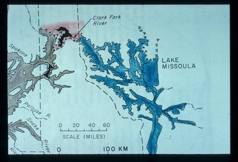 Map of Lake Missoula