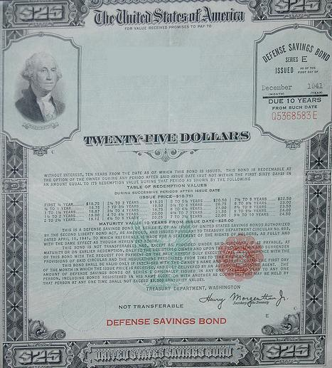 A war bond from the WWII era