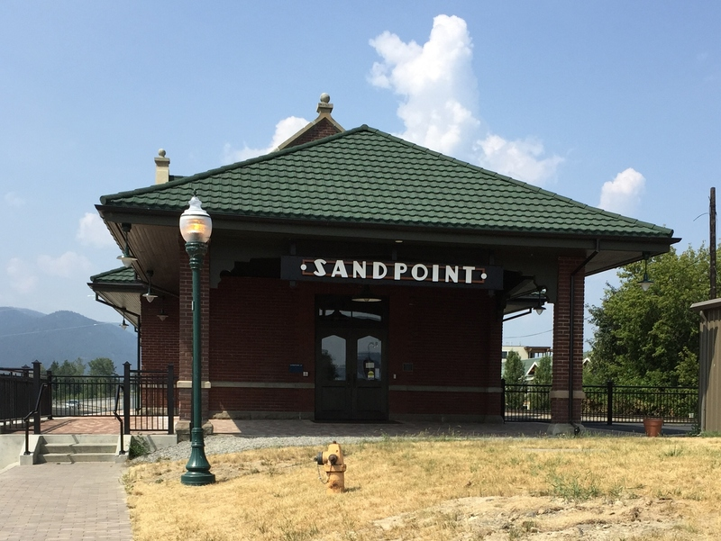 Sandpoint Train Depot after renovation in 2014.