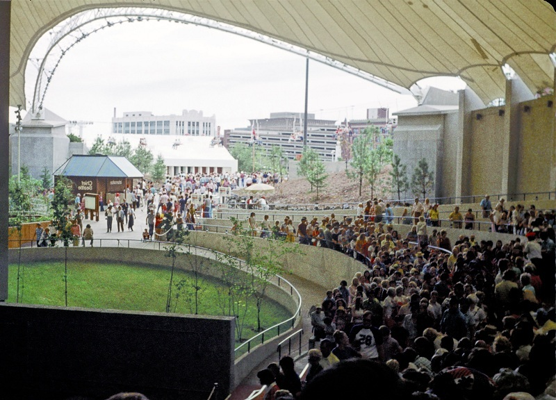 Inside the USA Pavilion During Expo '74