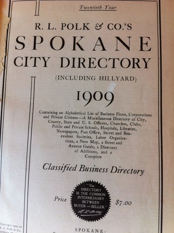 City Directory, 1909