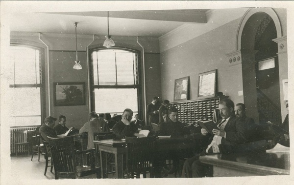 Carnegie Library Reading Room early 1900s