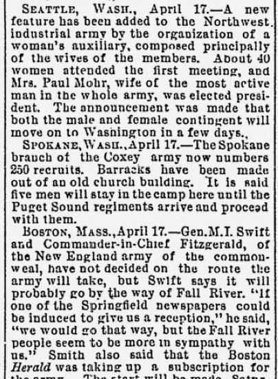 Baltimore Newspaper, April 18, 1894