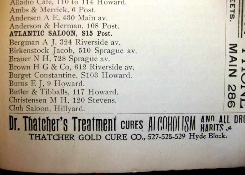 The Butler & Tibballs Saloon, 1892 Directory