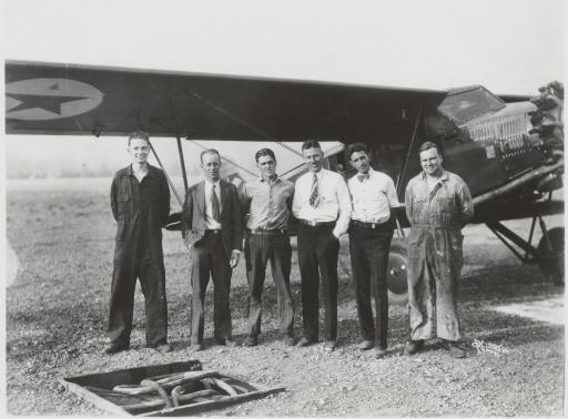 Nick Mamer, Art Walker and the crew of the Spokane Sun-God - August 14, 1929