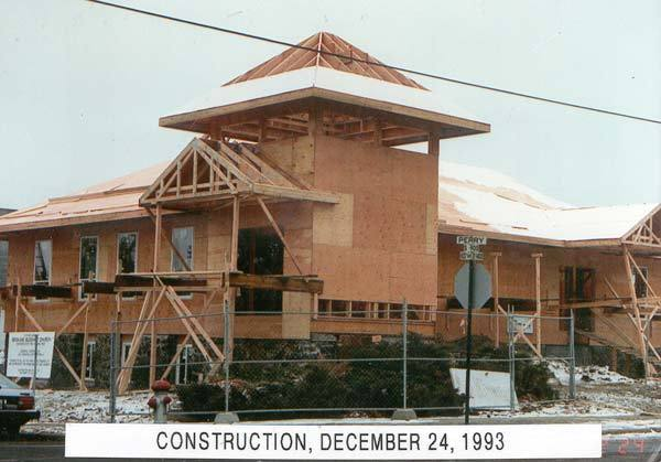 Spokane Buddhist Temple under construction in 1993