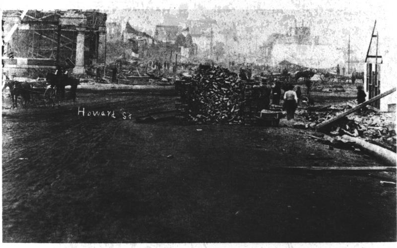 Howard Street 1889 After the Fire&lt;br /&gt;<br />