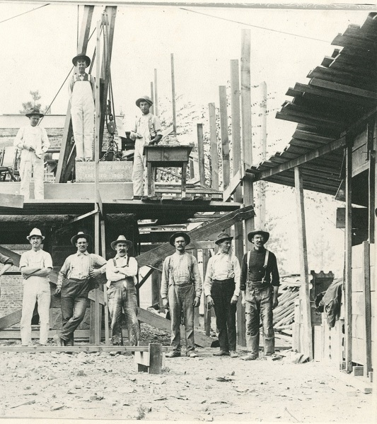 Carnegie Library Construction Workers