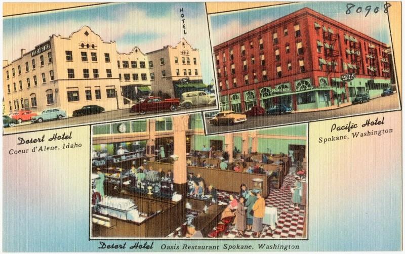 1940s Postcard of Regional Hotels