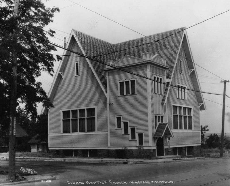 The German Baptist Church at Hartson & Arthur, 1928 (image L87-1.37066-28 courtesy of the Northwest Museum of Arts and Culture)