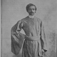 One of the earliest known portraits of Mozumdar, probably taken in 1908;