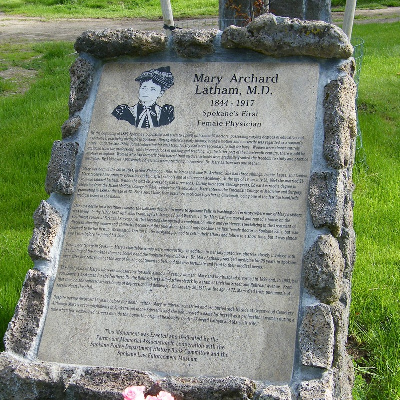 Dr. Mary Latham Monument