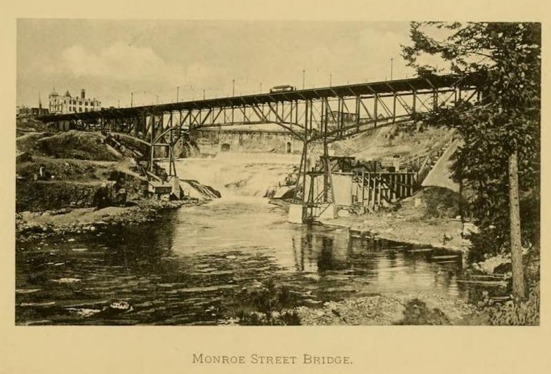 Steel Constructed Monroe Street Bridge