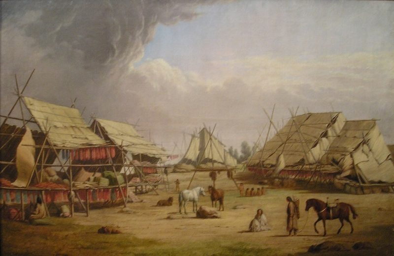 Indian Camp at Ft. Colville.
