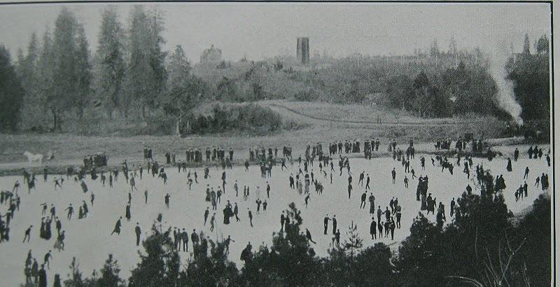 Winter Sport on Manito Lake circa 1910?
