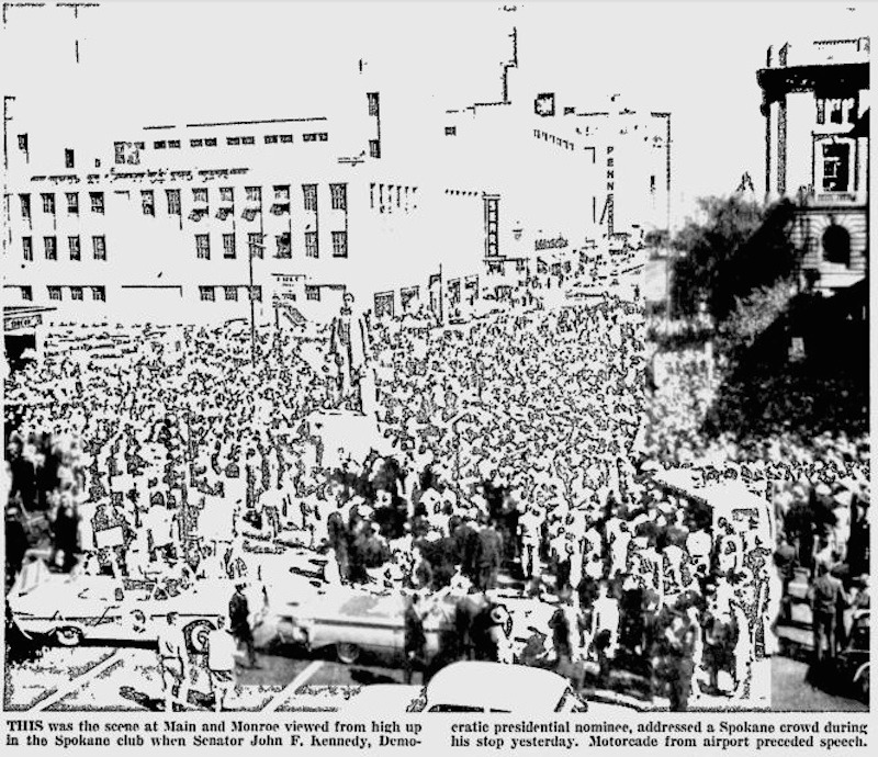 Crowd at Kennedy's Speech, 1960