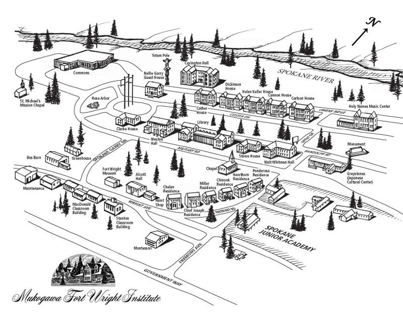 Fort Wright Institute Map