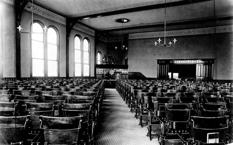 Interior of Church on Second and Jefferson