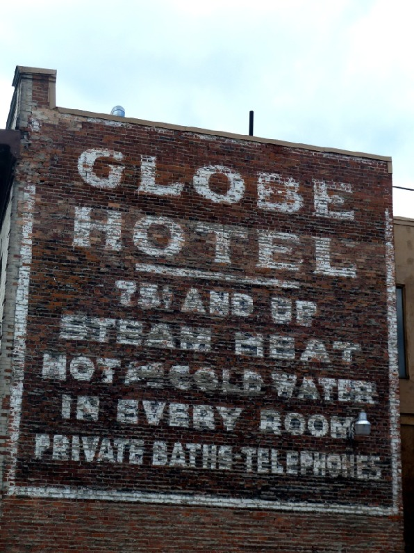 Ghost Sign of the Globe