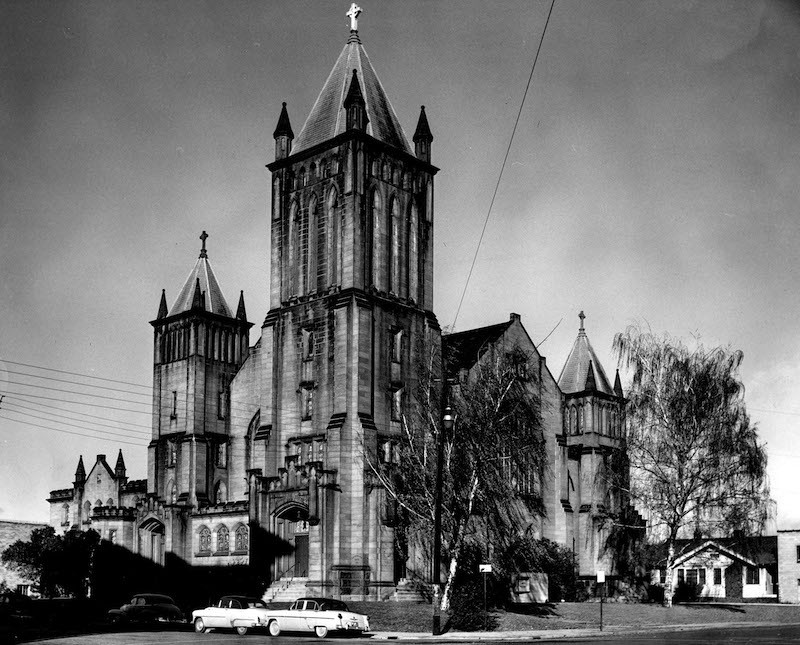 Exterior of the Church, 1950s
