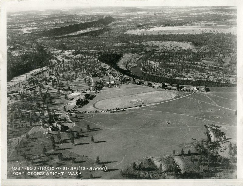 Aerial View of Fort George Wright