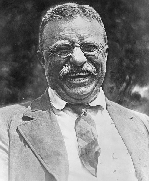 The ever-jovial Roosevelt