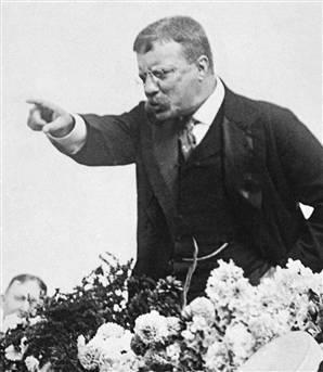 Teddy Roosevelt giving his Stump Speech